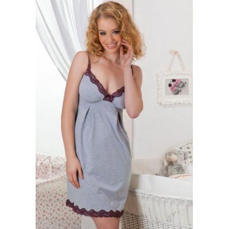 Рубашка ночная для беременных и кормления МАМА Рене ( Mama Rene)