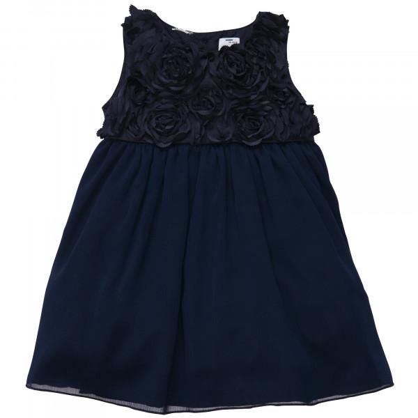 Платье нарядное тёмно-синее в розах (сатин), Carter's
