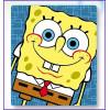 Плед флисовый с 'Sponge Bob' большой 120 на 140 см
