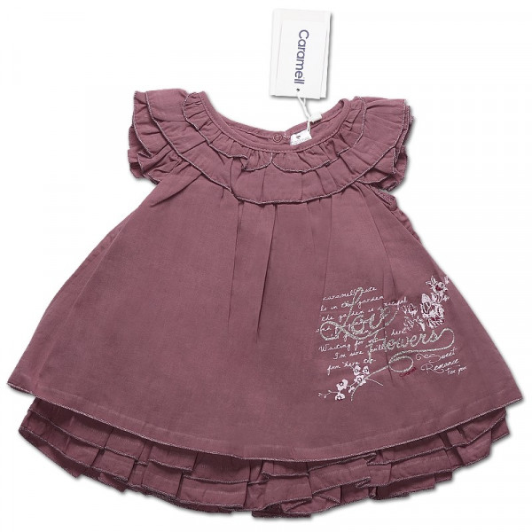 Платье для девочки БАКЛАЖАН Caramell, интерлок