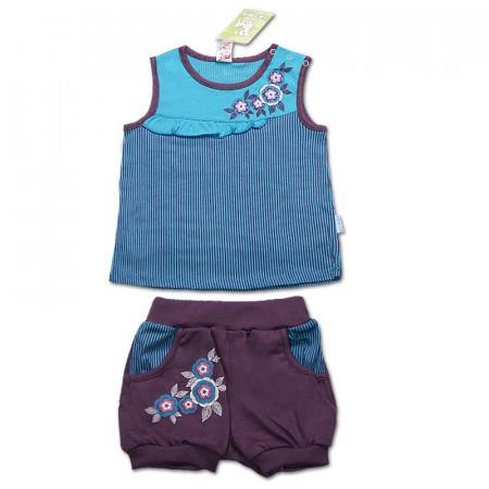 Костюм Flower с шортиками для девочки, голубой