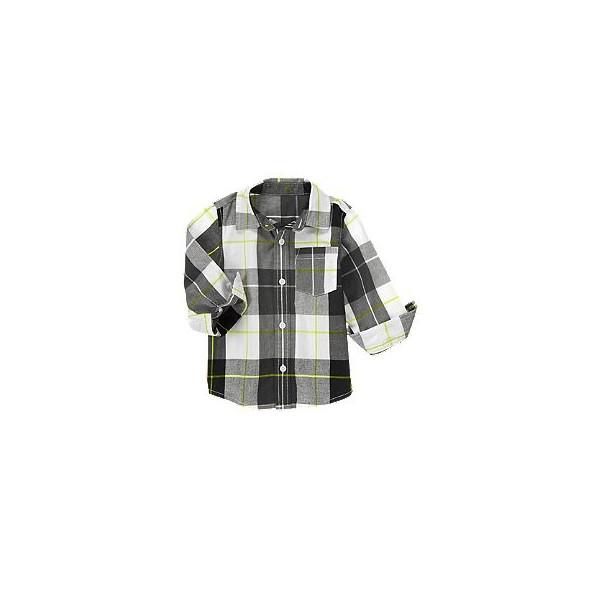Рубашка для мальчика черная Plaid Shirt от Crazy 8