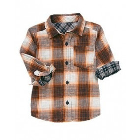 Рубашка для мальчика Plaid Double Weave Shirt от Crazy 8