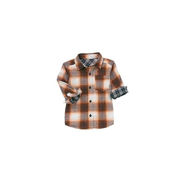 Рубашка для мальчика Plaid Double Weave Shirt от Crazy 8