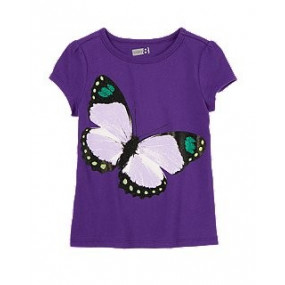 Футболка для девочки Sparkle Butterfly Tee от Crazy 8