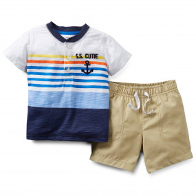 Комплект для мальчика ЯКОРЬ, картерс - 2-Piece Tee & Short Set