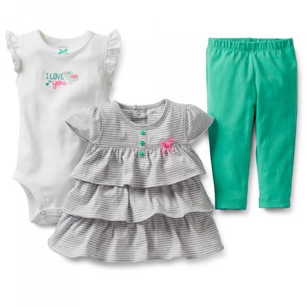 Комплект для девочки Spring Into Pink 3-Piece Top & Legging Set