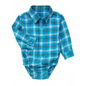 Боди-рубашка фланель в клетку - Plaid Flannel Bodysuit