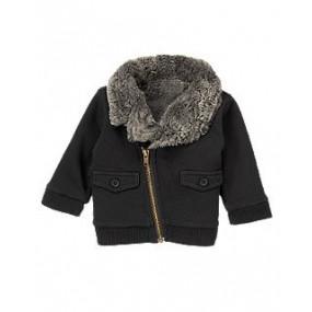 Легкая куртка с отделкой из иск. меха - Faux Fur Lined Jacket