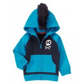 Флисовое худи с оригинальным капюшоном - Skull & Bones Fleece