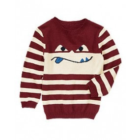 Свитер Мордашка - Silly Superhero Stripe Sweater