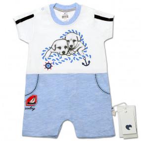 Песочник-футболка для мальчика Друзья (голубой), Caramell