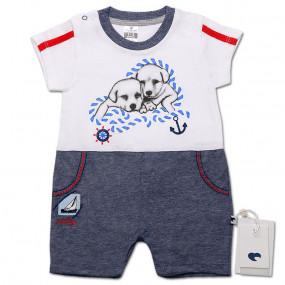 Песочник-футболка для мальчика Друзья (деним), Caramell