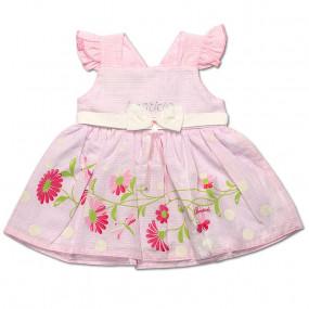 Платье Мирабелла для девочки, поплин (чайная роза)