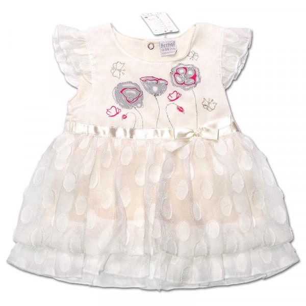 Платье Маргаритка для девочки (МОЛОЧНЫЙ), вуаль
