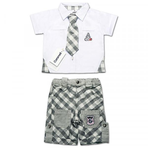 Комплект BABY BOSS для мальчика, интерлок (серый)
