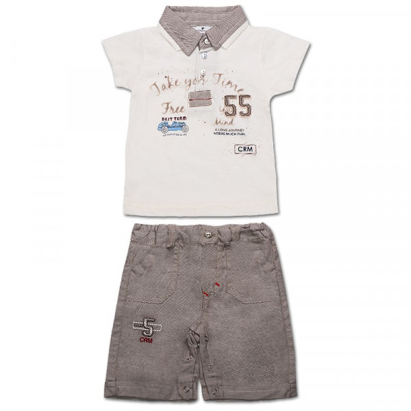 Комплект ля мальчика Фристайл (футболка, шорты) интерлок (беж)