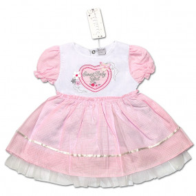 Платье LOVE для девочки (чайная роза), поплин