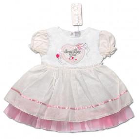 Платье LOVE для девочки (МОЛОЧНЫЙ), поплин