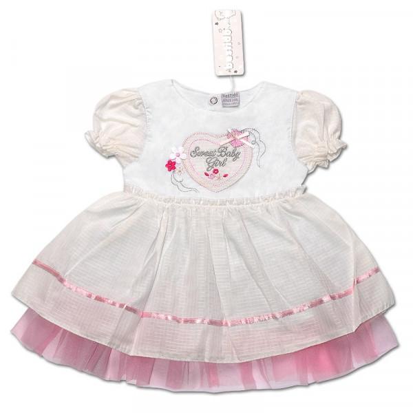 Платье LOVE для девочки (МОЛОЧНЫЙ),...