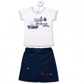 Комплект для мальчика Скаут (футболка, шорты) интерлок (синий)
