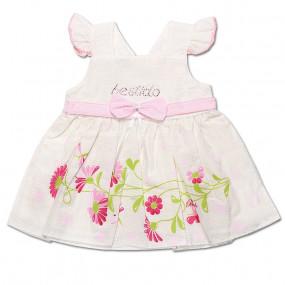 Платье Мирабелла для девочки, поплин (молочный)