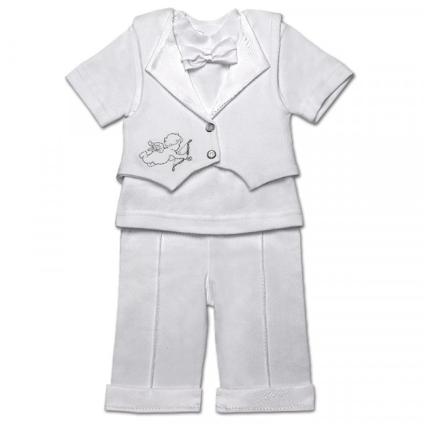 Костюм нарядный для мальчика 'Мини Босс-2' (короткий рукав), белый