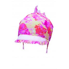 Панамка-кепка для девочки Луция (с завязками), разноцвет