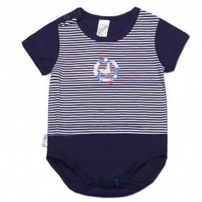 """Боди-футболка для мальчика """"В дальнее плавание"""" (Кулир), Смил (Smil)"""