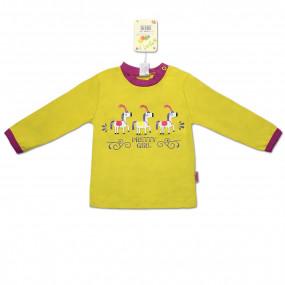 Футболка с длинным рукавом Happy Kids интерлок, жёлтый