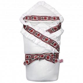 Конверт-одеяло Я УКРАИНОЧКА на синтепоне (зима), красный