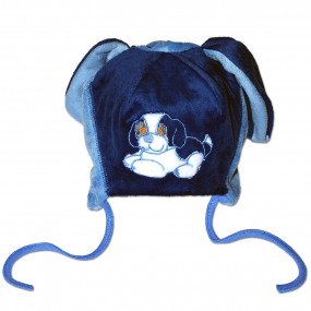 Шапка демисезонная Дружок, голубой