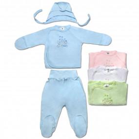 Комплект для новорожденного, интерлок 4 цвета
