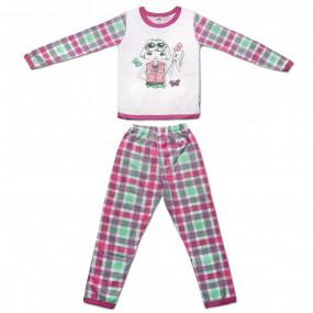 Пижама для девочек Леди, интерлок р. 116, 128