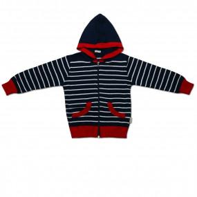 Кофта для мальчика с накладными карманами, КХ-478 (98-116, темно-синий)