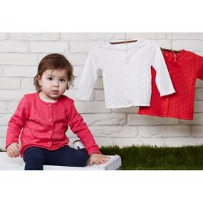 Кофта для девочки Ажурная, КД-715 (80-98, красный)