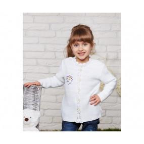 Кофта для девочки Ромашка, акрил КД-703 (86-104, белый)