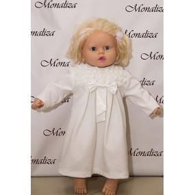 Платье нарядное Розы молочное (дл. рукав) мод. 0615, MonaLiza