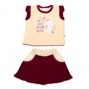 Комплект для девочки Cakes (майка+шорты), 68-80 см