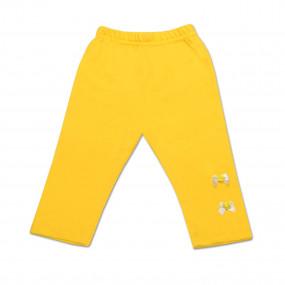 Лосины для девочки Бантик, желтые (86-104 см), хлопок