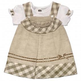 Платье Кантри Caramell (кофе), интерлок (62-74)