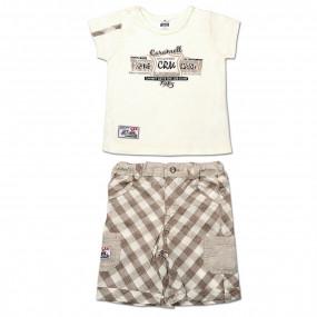 Комплект BABY BOY для мальчика, интерлок (латте)