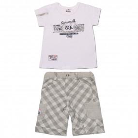 Комплект BABY BOY для мальчика, интерлок (серый)