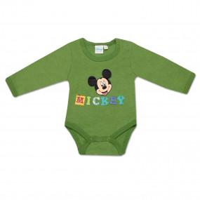 Бодик Disney Микки (зелёный), длинный рукав