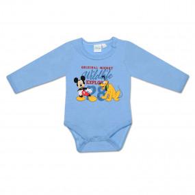 Бодик Disney Микки и Гуффи (голубой) с длинным рукавом