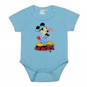 Бодик Disney HEROES (голубой), короткий рукав