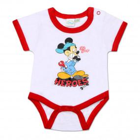 Бодик Disney HEROES (белый с красным), короткий рукав