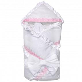 Конверт-одеяло БАНТИК для новорожденной девочки (зима)