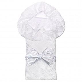 Конверт-покрывало ДОМИНИК для новорожденных (облегченная весна/осень), белый