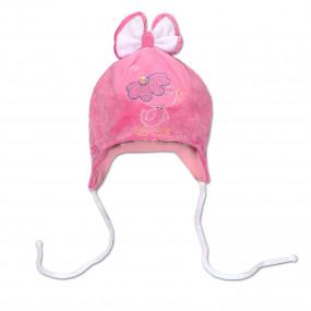 Шапка демисезонная Цыпа (плюш), розовый